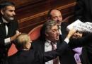 Foto di giorni agitati in Senato