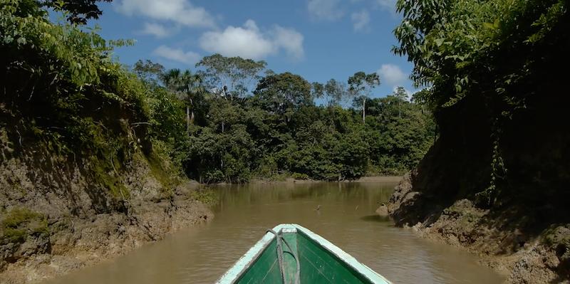 screengrab Nina in canoe