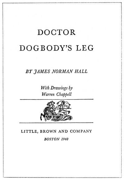 """La copertina della prima edizione di """"Doctor Dogbody's Leg"""" del 1940"""