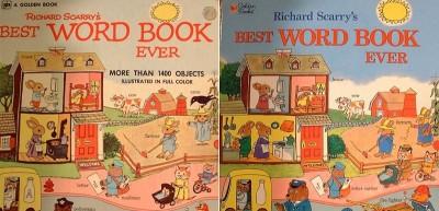 """Le due versioni del """"Libro delle parole"""" di Richard Scarry"""