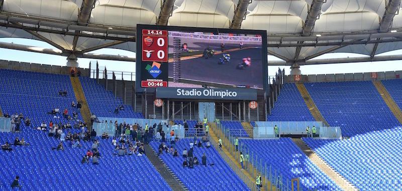 f9ccd9a7c02 L ultimo Gran Premio del Mondiale è stato trasmesso dal maxischermo  dell Olimpico prima di Roma-Lazio