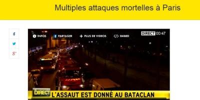 La diretta di iTELE sugli attacchi di Parigi