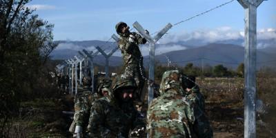 La barriera tra Macedonia e Grecia