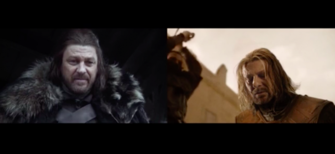 La prima e l'ultima scena di un po' di personaggi di Game of Thrones
