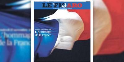 Le prime pagine francesi in ricordo dei morti negli attentati di Parigi