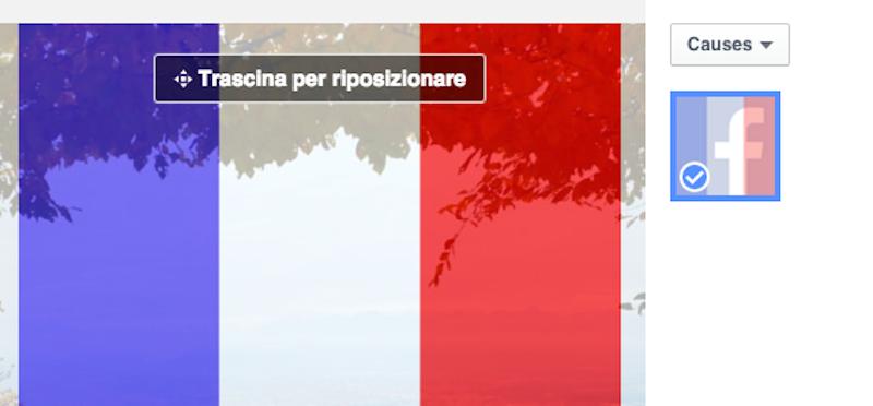 Lopzione Di Facebook Per Colorare La Foto Profilo Con La Bandiera