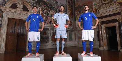 La nuova maglia dell'Italia