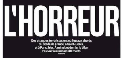 Le prime pagine dei giornali francesi sulla strage di Parigi