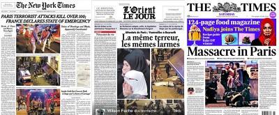 Le prime pagine internazionali sulla strage di Parigi