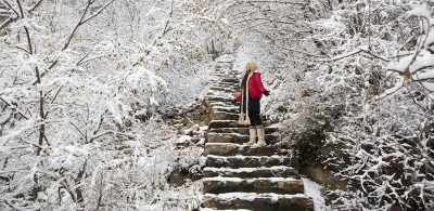 Le foto della neve in Cina