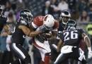 Lo spettacolare touchdown di David Johnson
