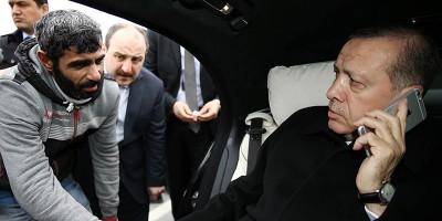 Erdoğan ha salvato un uomo dal suicidio al ponte sul Bosforo, a Istanbul