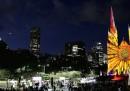 Lo spettacolo delle luci di Natale a Sydney