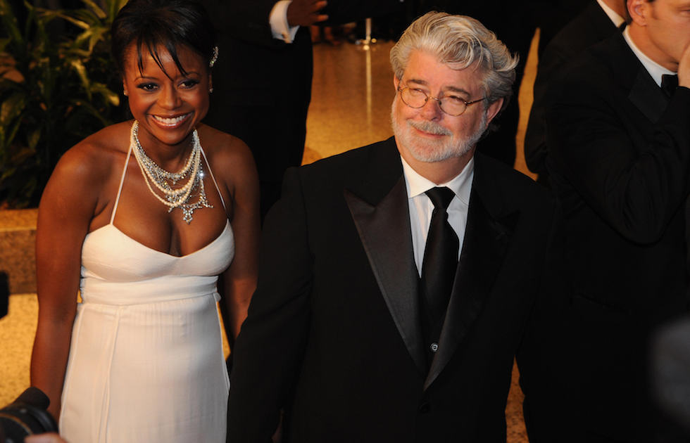 US film direcor George Lucas arrives for