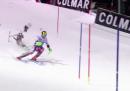 Il video del drone che si schianta a terra durante la gara di sci