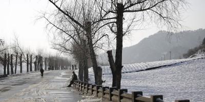 Fotografie della Corea del Nord con la neve
