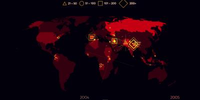 Tutti gli attentati terroristici dal 2000 ad oggi, in un video