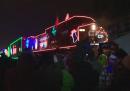 """Il """"treno di Natale"""" che passa fra Canada e Stati Uniti"""