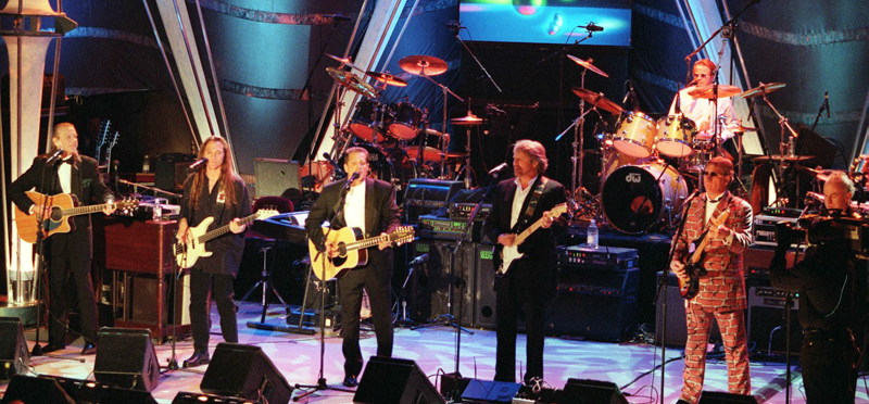 The Eagles (from left:) Randy Meisner, Timothy Sch