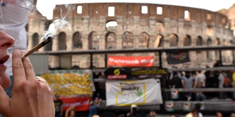 Marijuana Million March in Rome