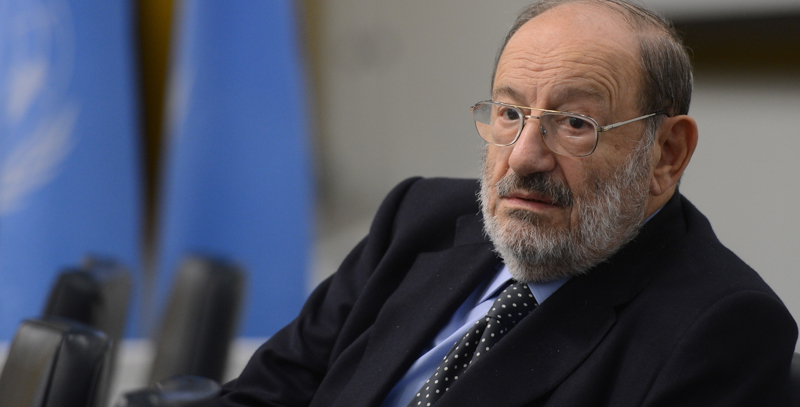 Umberto Eco AT United Nations Headquarters - NYC