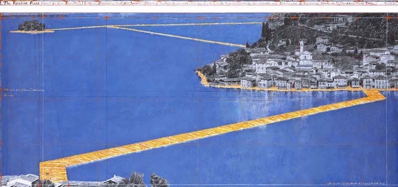 Il progetto The Floating Piers(André Grossmann - © 2015 Christo)