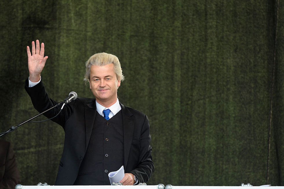 Geert Wilders Speaks To Pegida Gathering