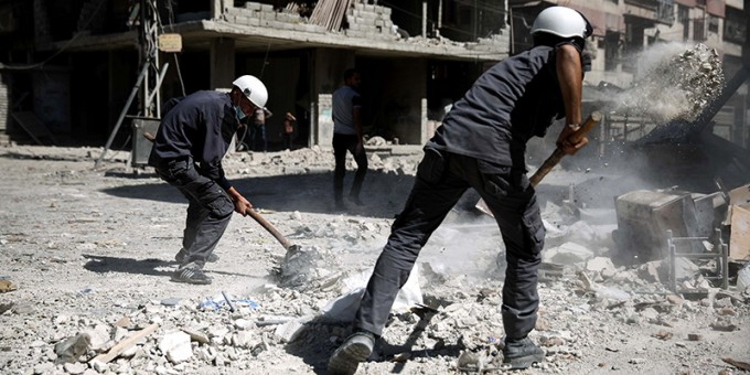 SYRIA-CONFLICT-WHITE HELMETS