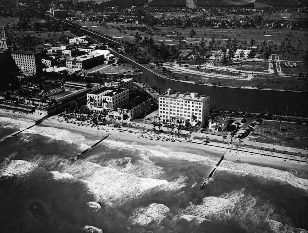 Aerial View Of Miami Beach Hotels