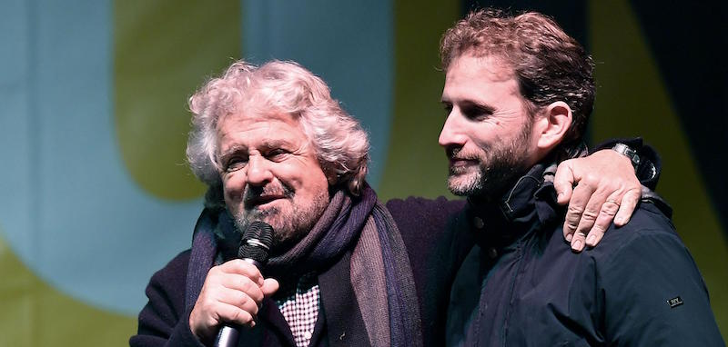 M5S leader Beppe Grillo campaigns for No in referendum