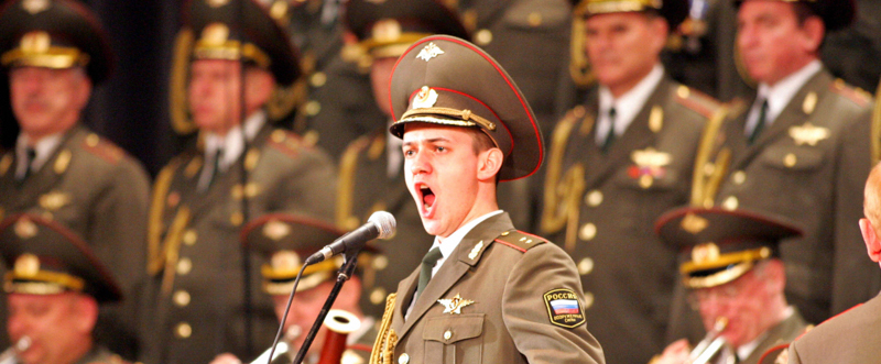 The Red Army Choir performs 19 April 200