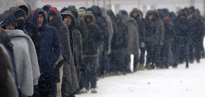 Come si vive in un campo profughi d'inverno