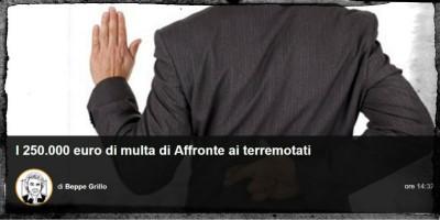 Beppe Grillo vuole chiedere 250 mila euro a un eurodeputato