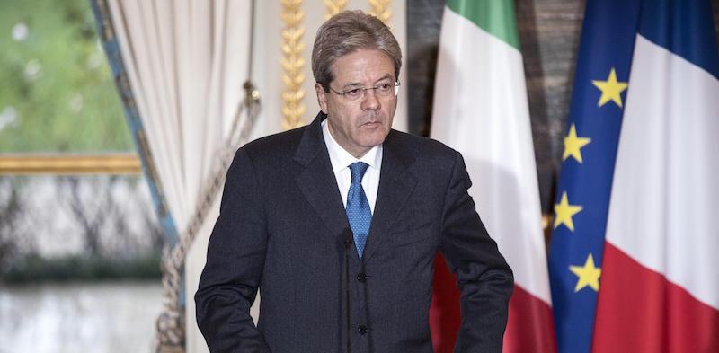 Italian Prime Minister Gentiloni visits Paris