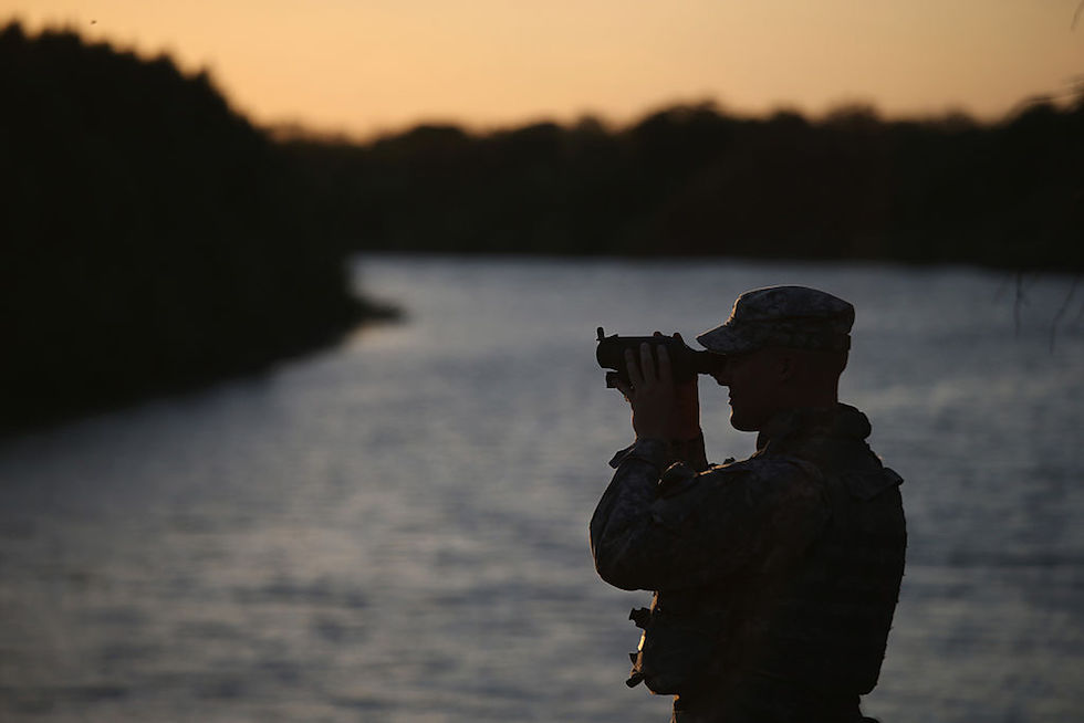 Texas National Guard Monitors U.S. Mexico Border