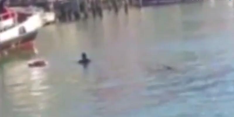 Profugo suicida in Canal Grande, il filmato-choc della tragedia