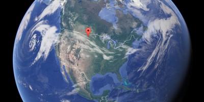 Dov'è il centro del Nord America