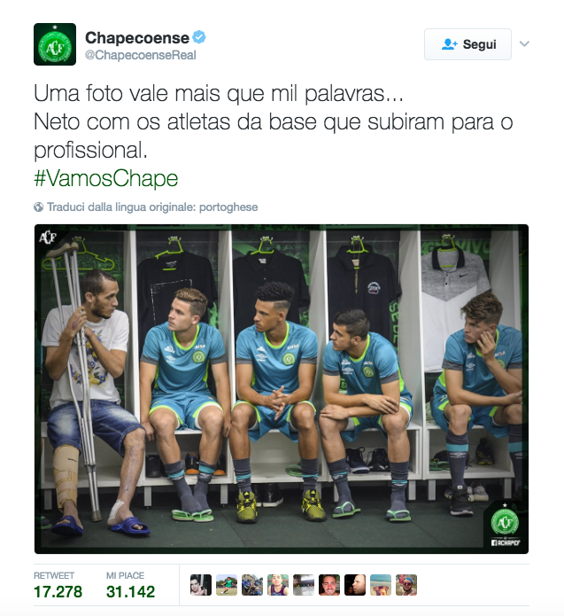 La Chapecoense riparte: di nuovo in campo a due mesi dall'incidente