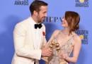 """Tutti i vincitori dei Golden Globe (""""La la land"""", soprattutto)"""