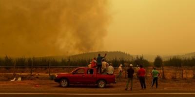 Le foto degli incendi in Cile