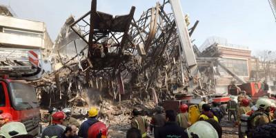 È crollato un grattacielo a Teheran