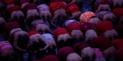 Foto dal festival delle donne, in Nepal