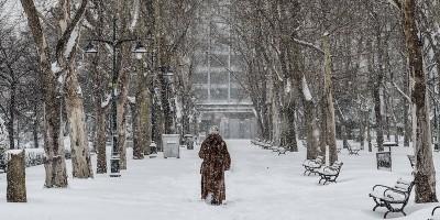 Le solite belle foto della neve a Istanbul