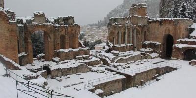 Le foto della neve nel Sud Italia