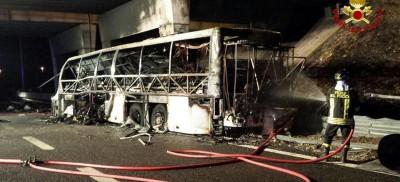 16 morti in un incidente a un pullman a Verona