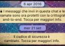 WhatsApp ha un problema coi messaggi criptati?