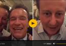 David Cameron, Arnold Schwarzenegger e Terminator