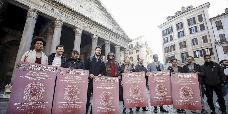 Sit-in Roma legge cittadinanza