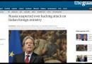 Gli hacker russi hanno attaccato il ministero degli Esteri italiano?