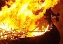 Vichinghi e fuoco, in Scozia